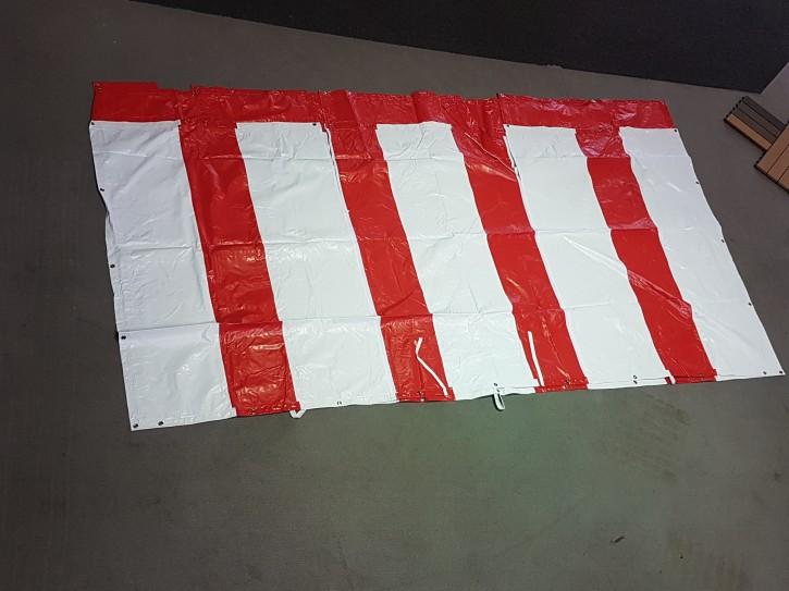 Giebelplanenset Rot weiss 4 m
