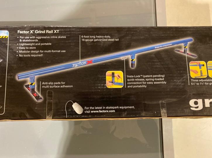 grind rail skateboard Stange 1,83 m lang round blau verstellbar
