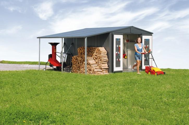Seitendach für Gerätehaus
