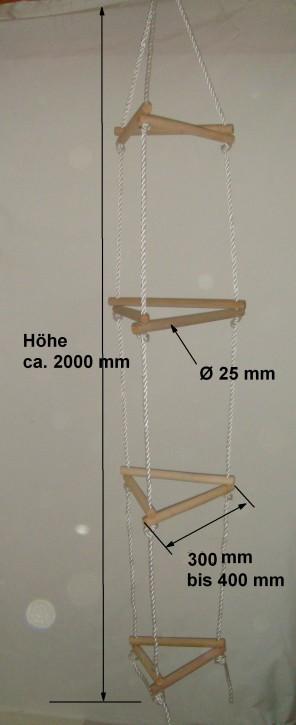 Strickleiter 3 x 5 Sprossen, 3 seitig