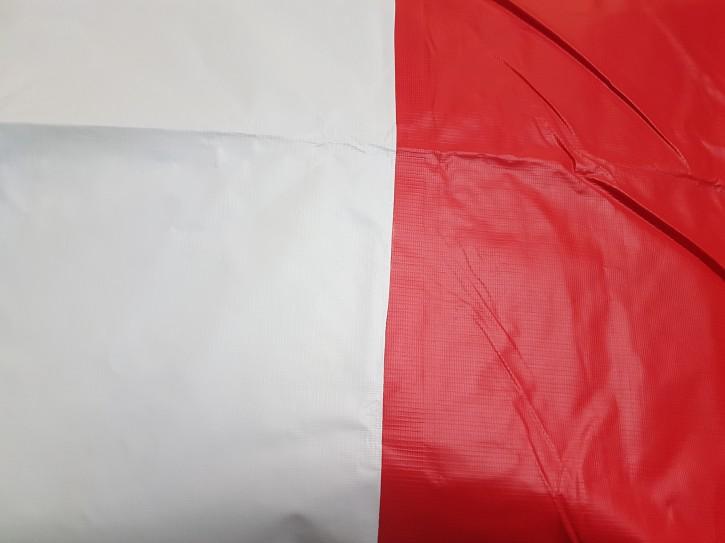 Dachplanen 500g/m² rot/weiß / 4 x 8 m