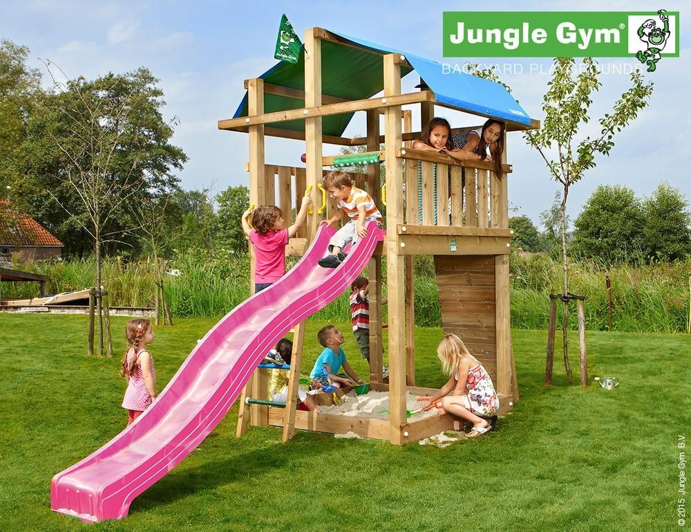 Klettergerüst Jungle : Klettergerüst holz ✓ palace mit rutsche von jungle gym