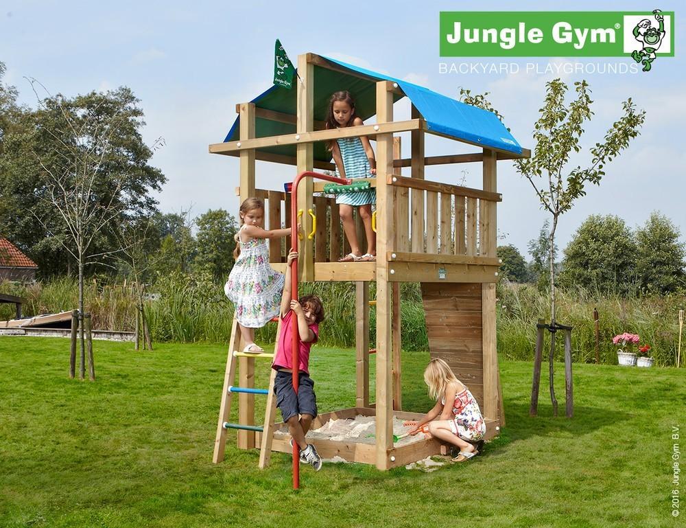 spielturm jungle villa von jungle gym mit rutsche oder. Black Bedroom Furniture Sets. Home Design Ideas