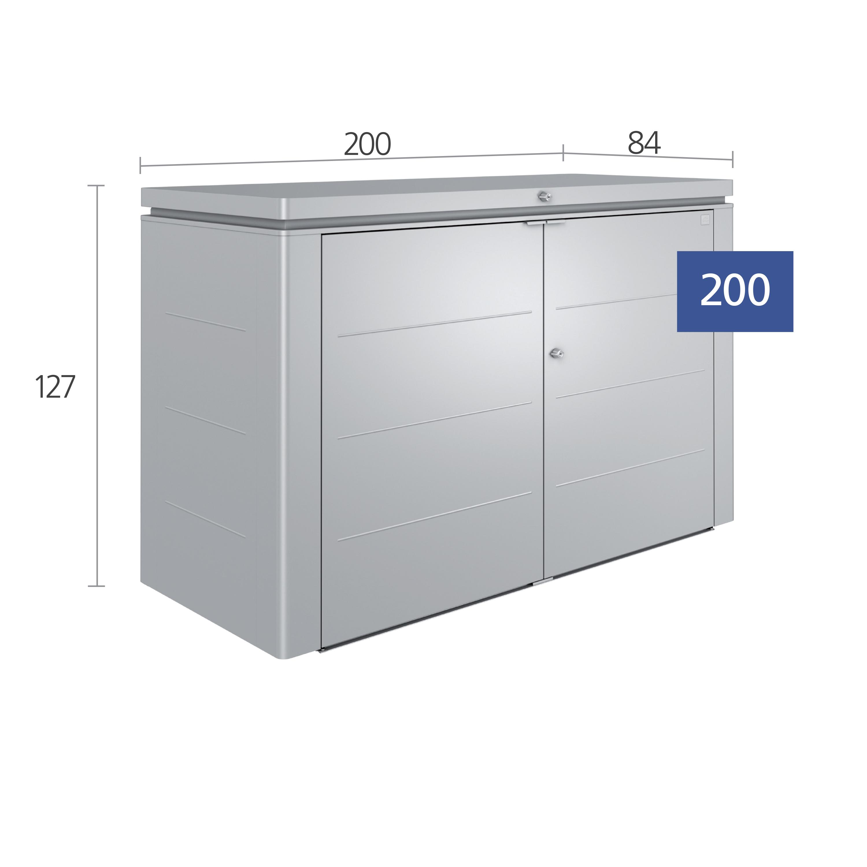 highboard quarzgrau metallic 200er 70025. Black Bedroom Furniture Sets. Home Design Ideas