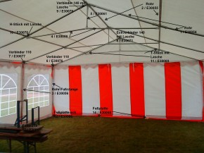 Ersatzteil für Partyzelt: 3-Wege-Verbinder 110° f. 6 m Zelte