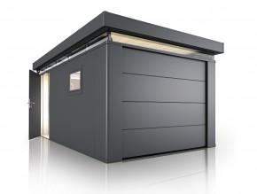 Nebengebäude CasaNova® Dunkelgrau-metallic / 4 x 2 m / Rechts